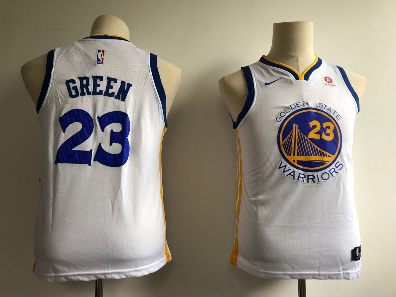 Youth Golden State Warriors 23 Green White Nike NBA Jerseys