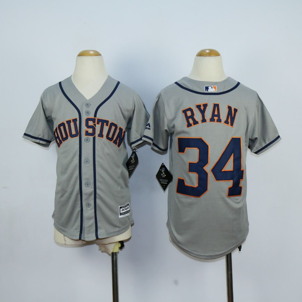 Youth Houston Astros 34 Ryan Grey MLB Jerseys