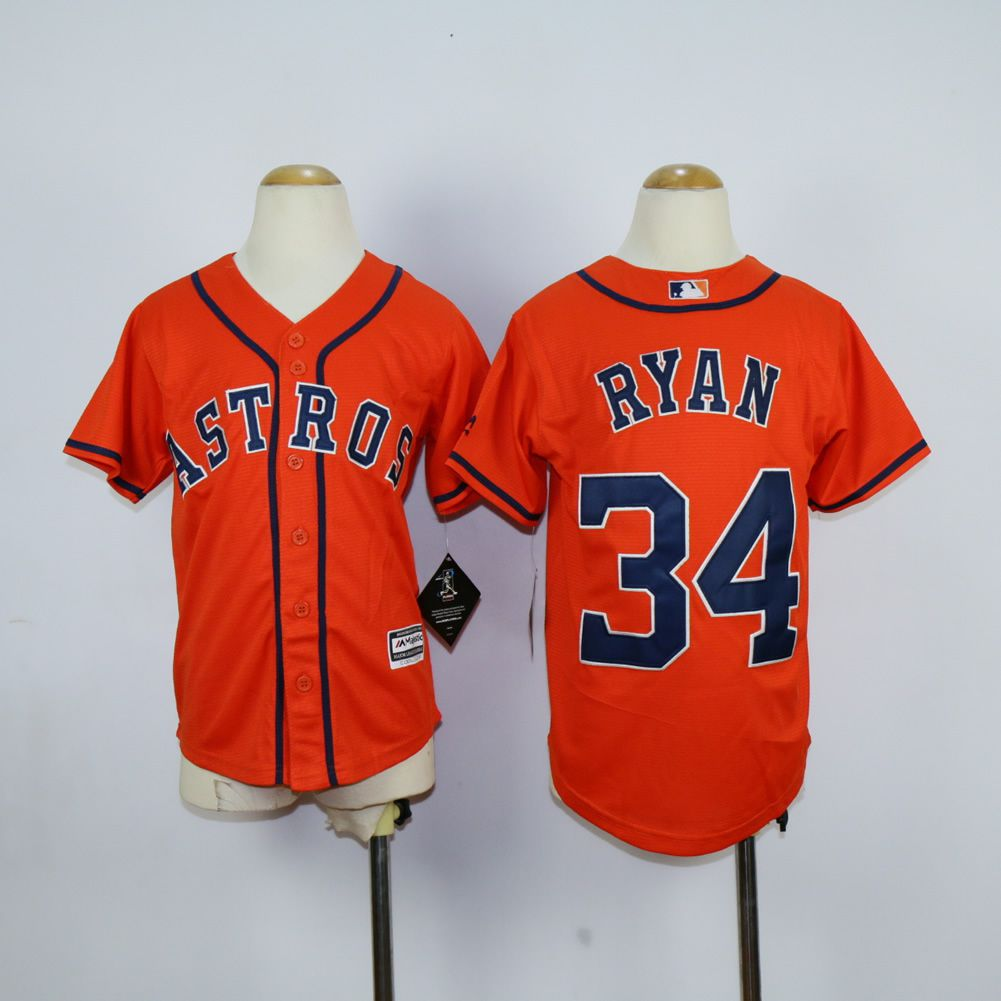 Youth Houston Astros 34 Ryan Oragne MLB Jerseys