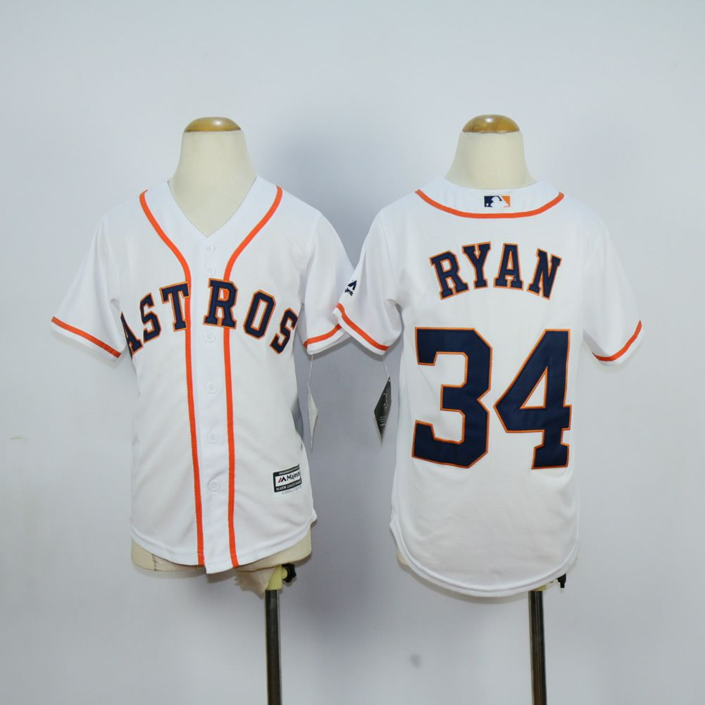 Youth Houston Astros 34 Ryan White MLB Jerseys