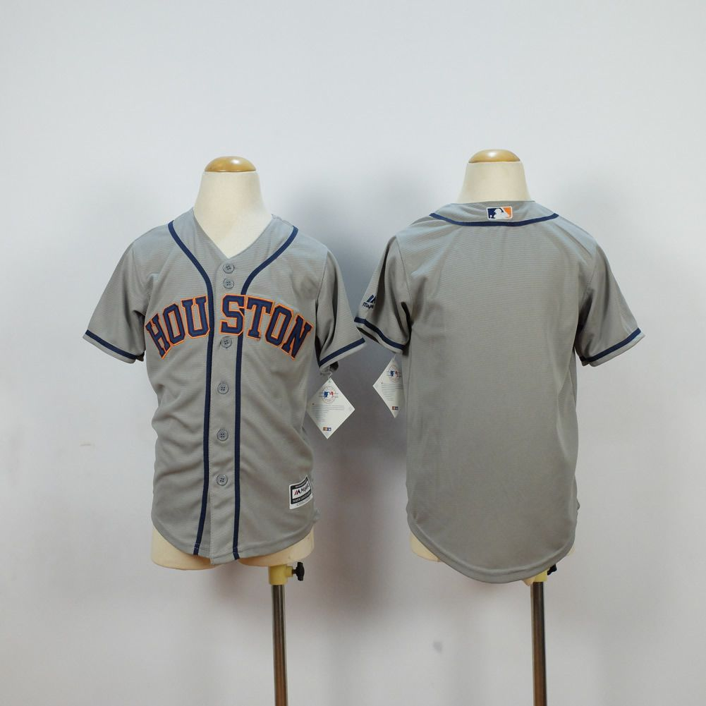 Youth Houston Astros Blank Grey MLB Jerseys