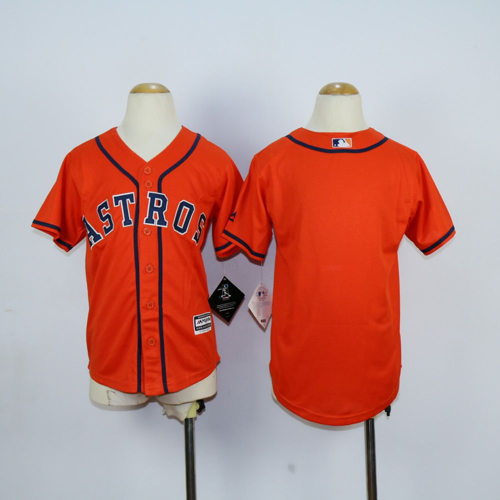 Youth Houston Astros Blank Orange MLB Jerseys