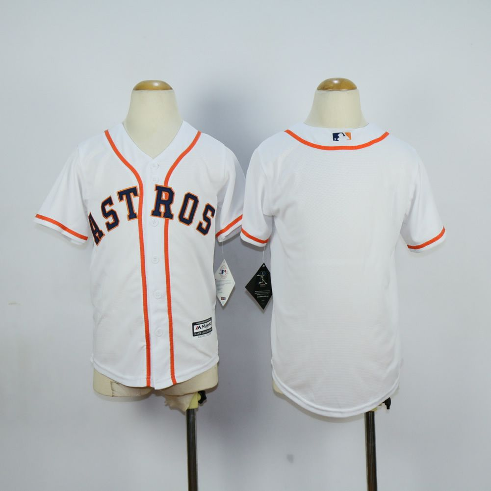 Youth Houston Astros Blank White MLB Jerseys