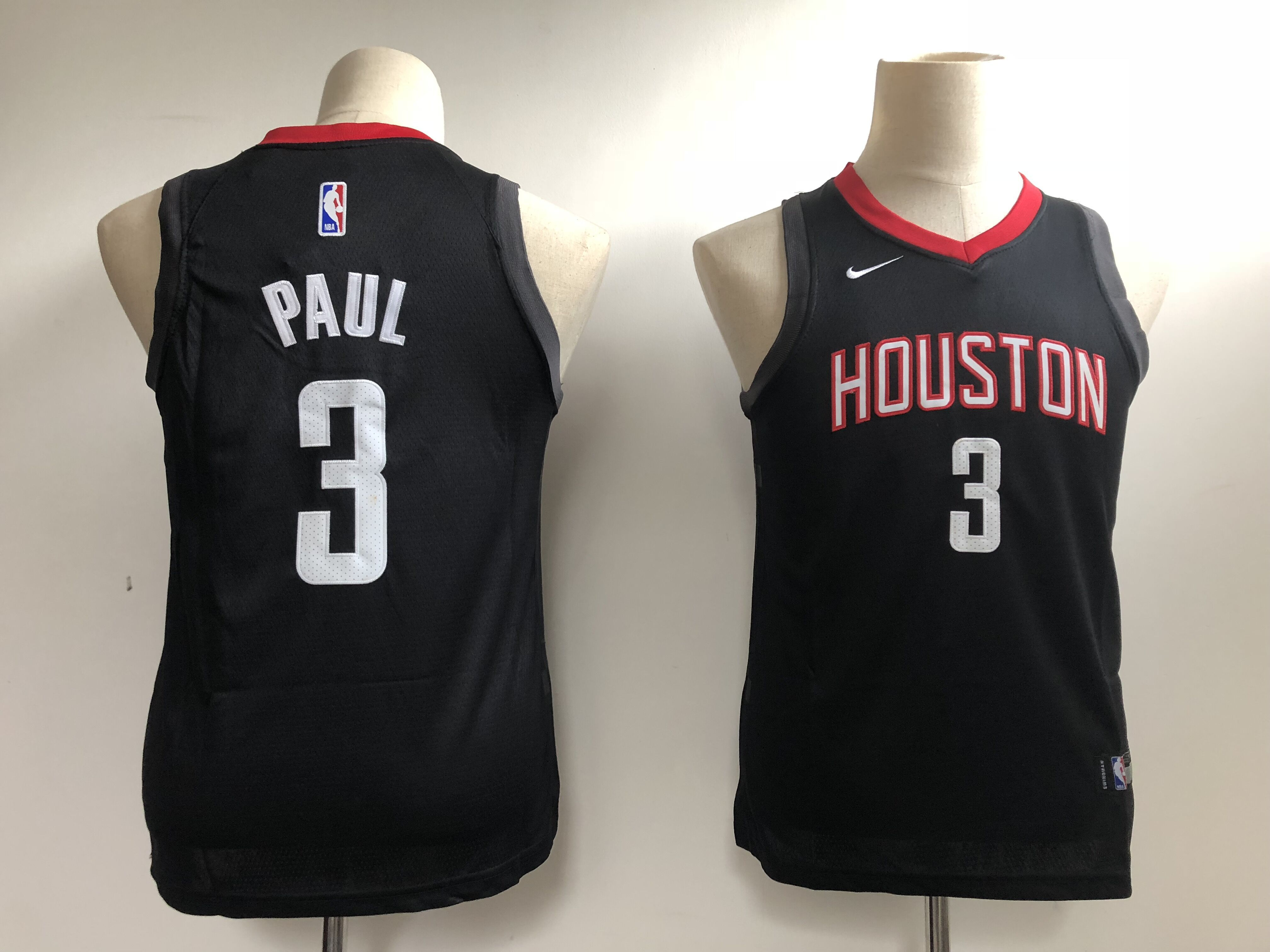 Youth Houston Rockets 3 Paul Black Nike NBA Jerseys