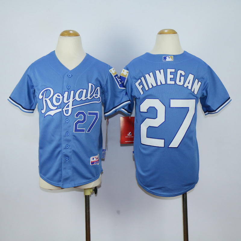 Youth Kansas City Royals 27 Finnegan Light Blue MLB Jerseys