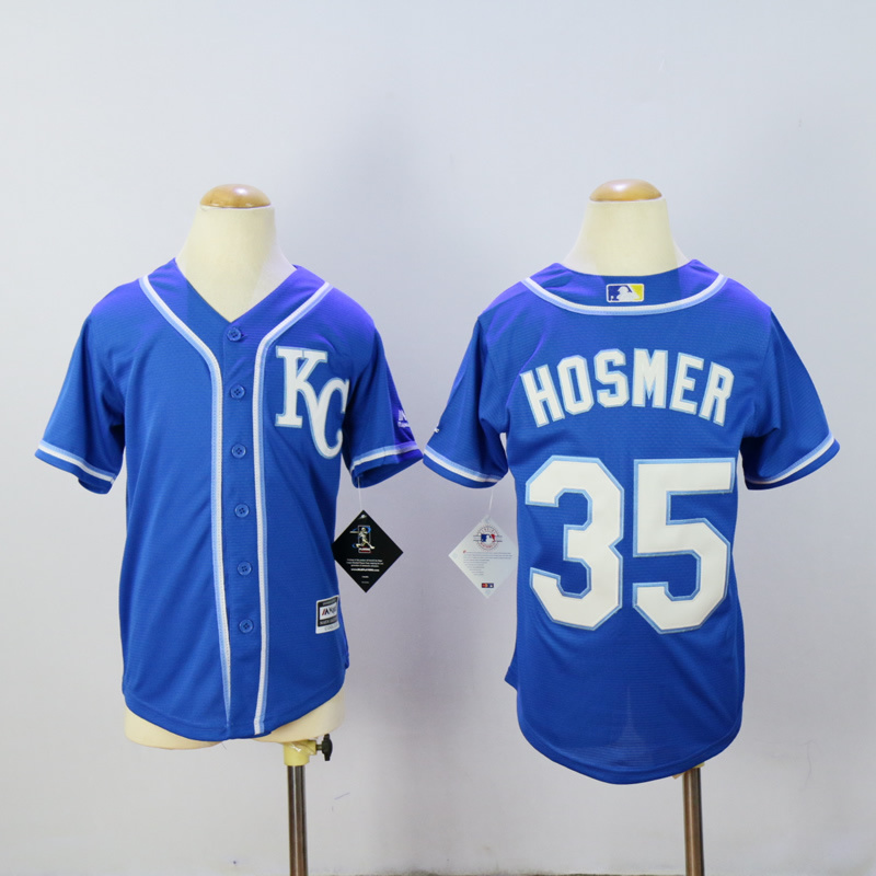 Youth Kansas City Royals 35 Hosmer Blue MLB Jerseys