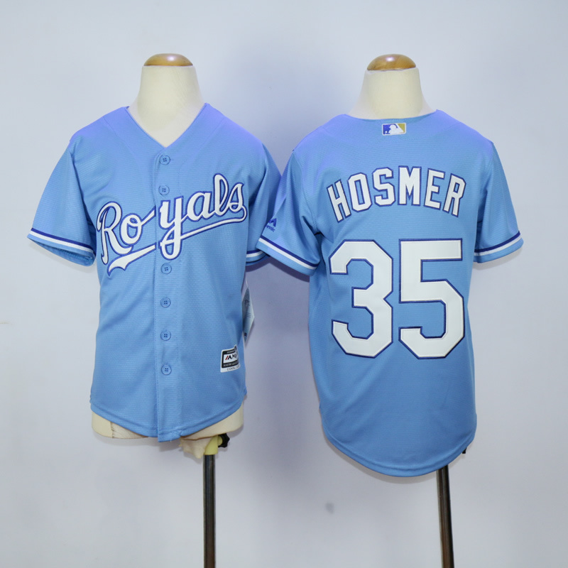 Youth Kansas City Royals 35 Hosmer Light Blue MLB Jerseys
