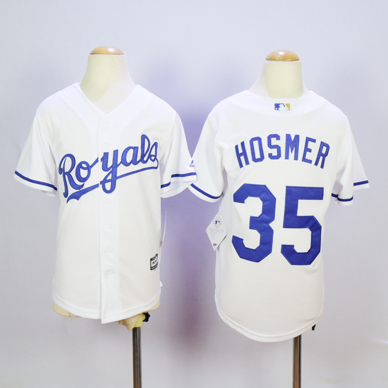 Youth Kansas City Royals 35 Hosmer White MLB Jerseys