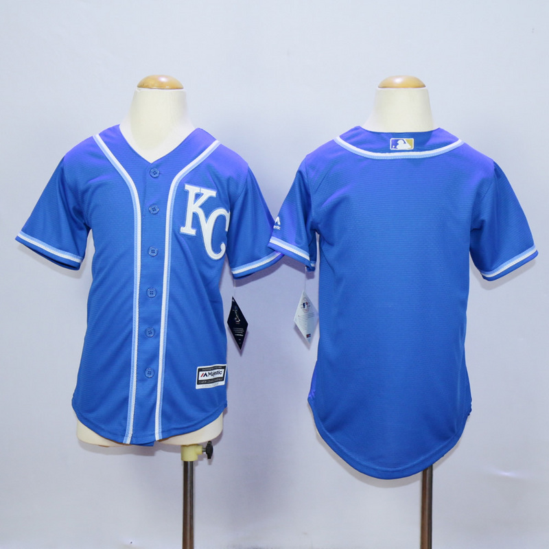 Youth Kansas City Royals Blank Blue MLB Jerseys