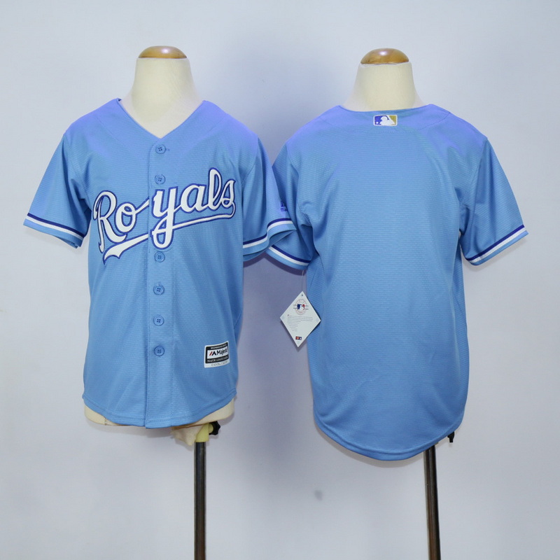 Youth Kansas City Royals Blank Light Blue MLB Jerseys