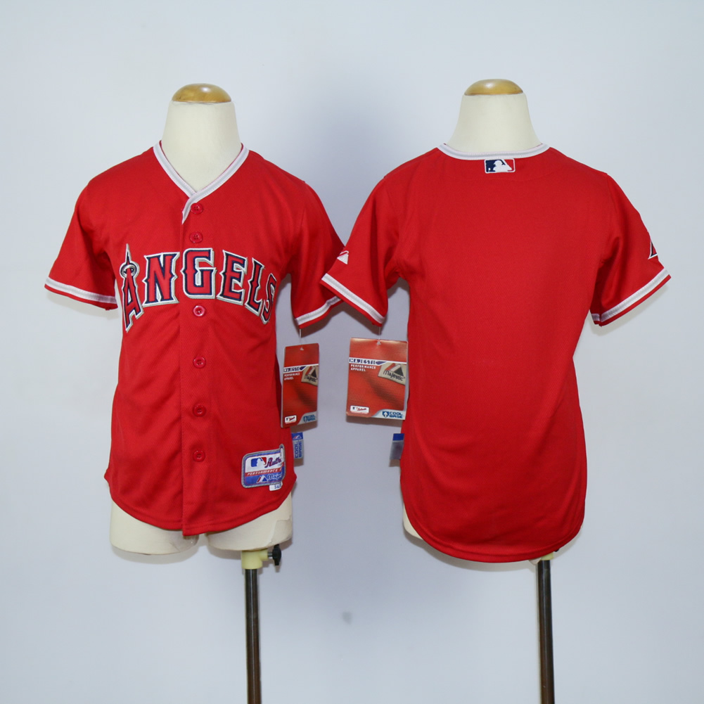 Youth Los Angeles Angels Blank Red MLB Jerseys