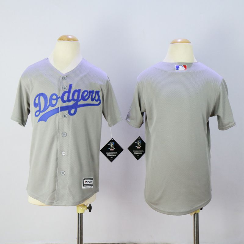 Youth Los Angeles Dodgers Blank Grey MLB Jerseys