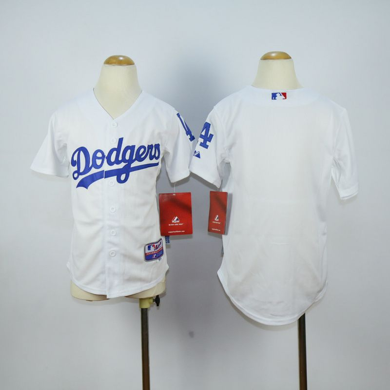 Youth Los Angeles Dodgers Blank White MLB Jerseys