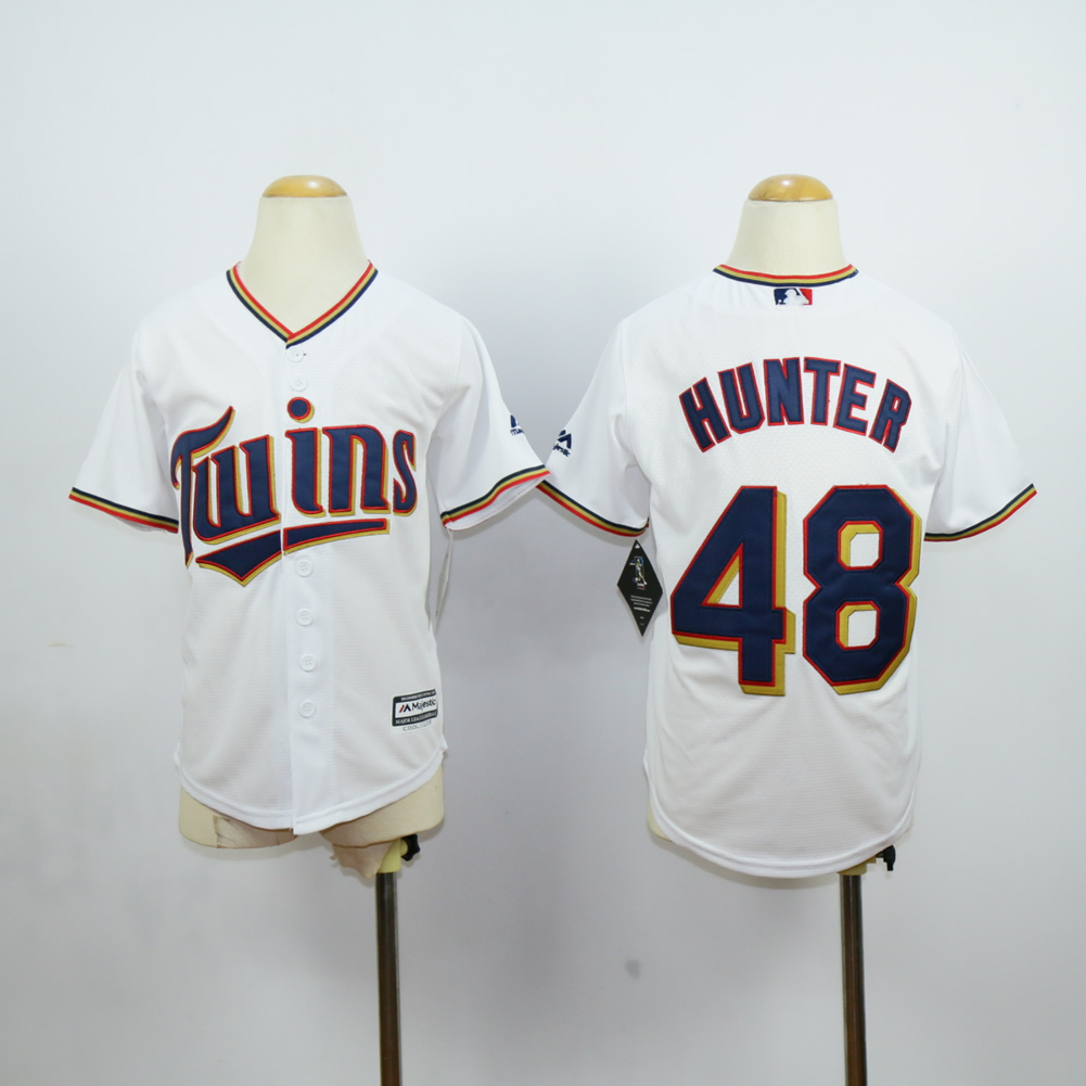 Youth Minnesota Twins 48 Hunter White MLB Jerseys