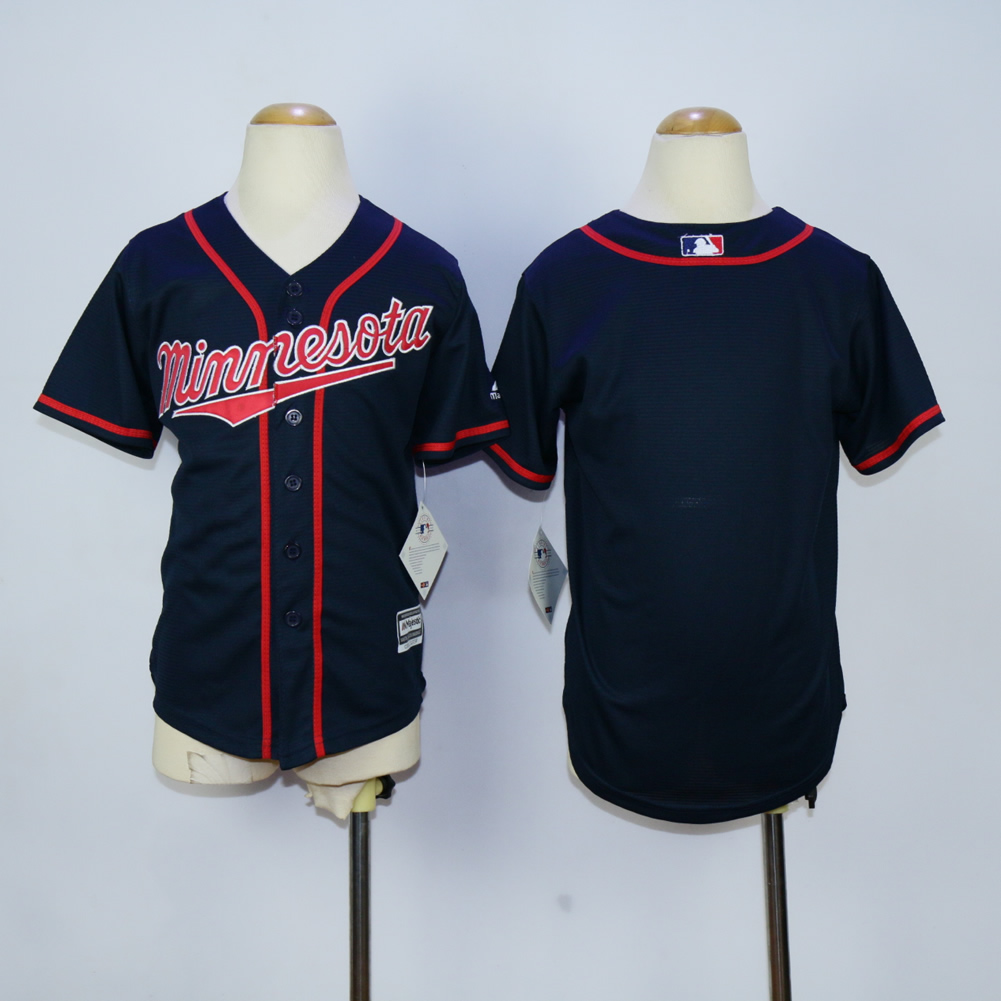 Youth Minnesota Twins Blank Blue MLB Jerseys