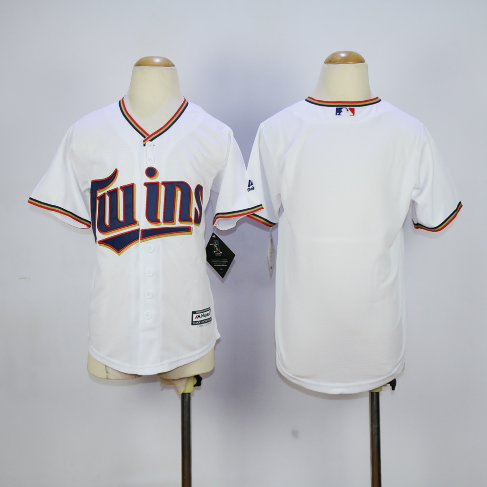 Youth Minnesota Twins Blank White MLB Jerseys