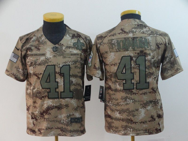 Youth New Orleans Saints 41 Kamara Nike Camo Salute to Service Limited NFL Jersey