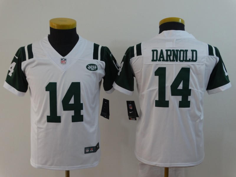 Youth New York Jets 14 Darnold white Nike Vapor Untouchable Player NFL Jerseys