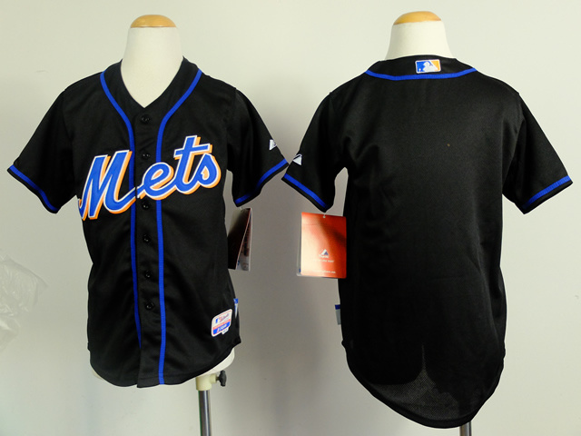 Youth New York Mets Blank Black MLB Jerseys