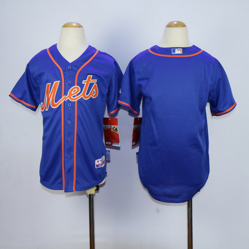 Youth New York Mets Blank Blue MLB Jerseys