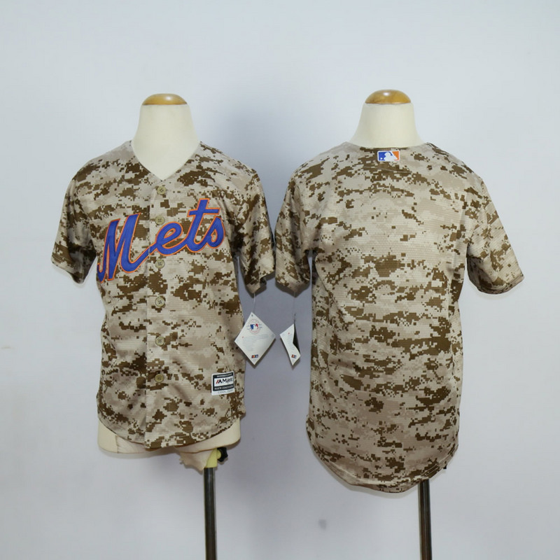 Youth New York Mets Blank Camo MLB Jerseys