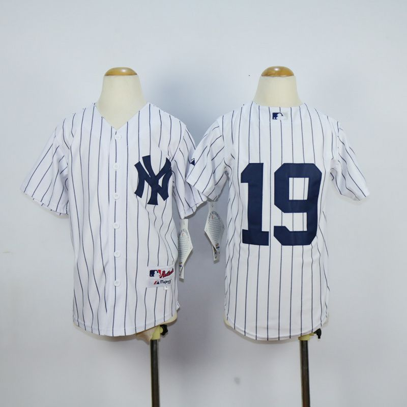 Youth New York Yankees 19 No name White MLB Jerseys