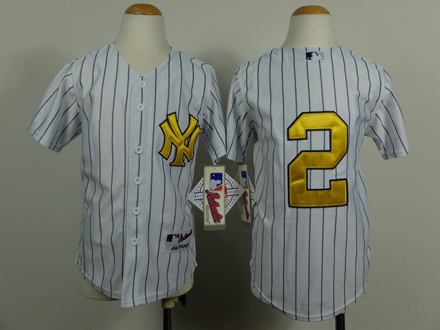 Youth New York Yankees 2 Jeter White MLB Jerseys
