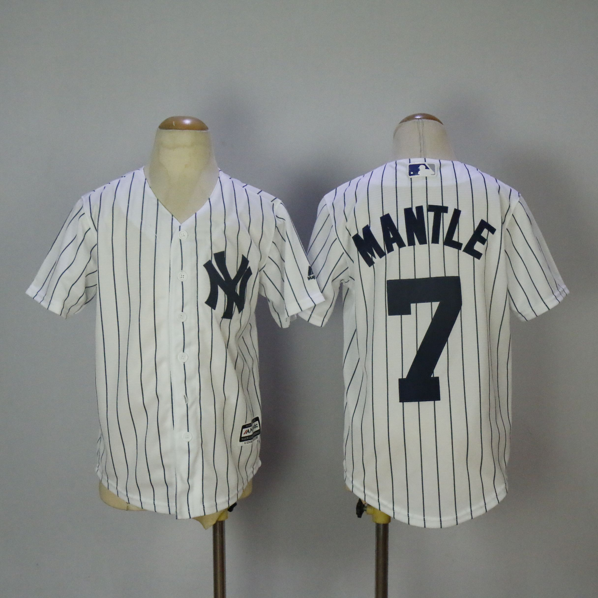 Youth New York Yankees 7 Mantle White MLB Jerseys