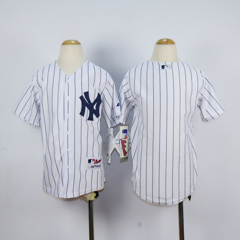 Youth New York Yankees Blank White MLB Jerseys