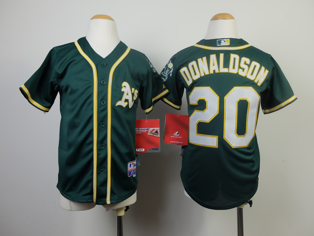 Youth Oakland Athletics 20 Donaldson Green MLB Jerseys