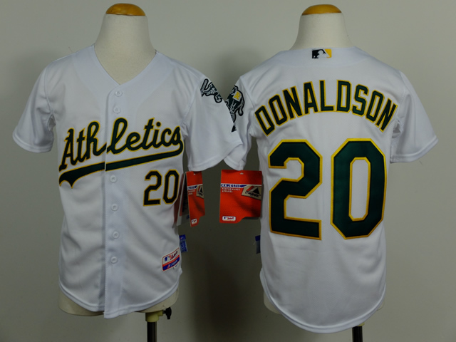 Youth Oakland Athletics 20 Donaldson White MLB Jerseys