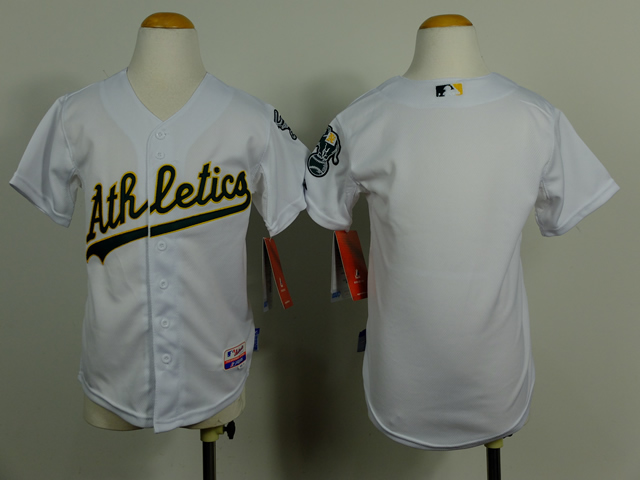 Youth Oakland Athletics Blank White MLB Jerseys