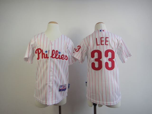 Youth Philadelphia Phillies 33 Lee White MLB Jerseys