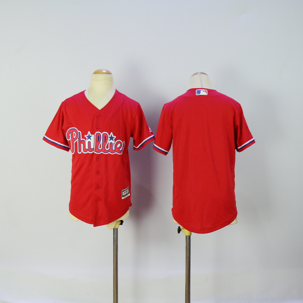 Youth Philadelphia Phillies Blank Red MLB Jerseys