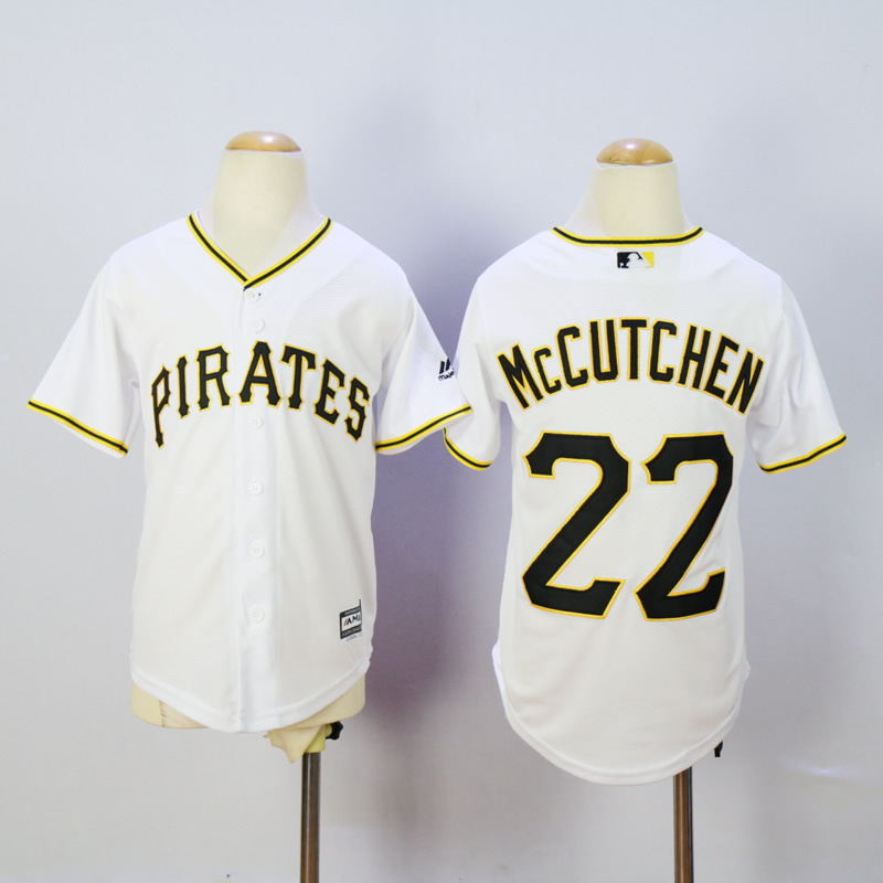 Youth Pittsburgh Pirates 22 Mccutchen White MLB Jerseys