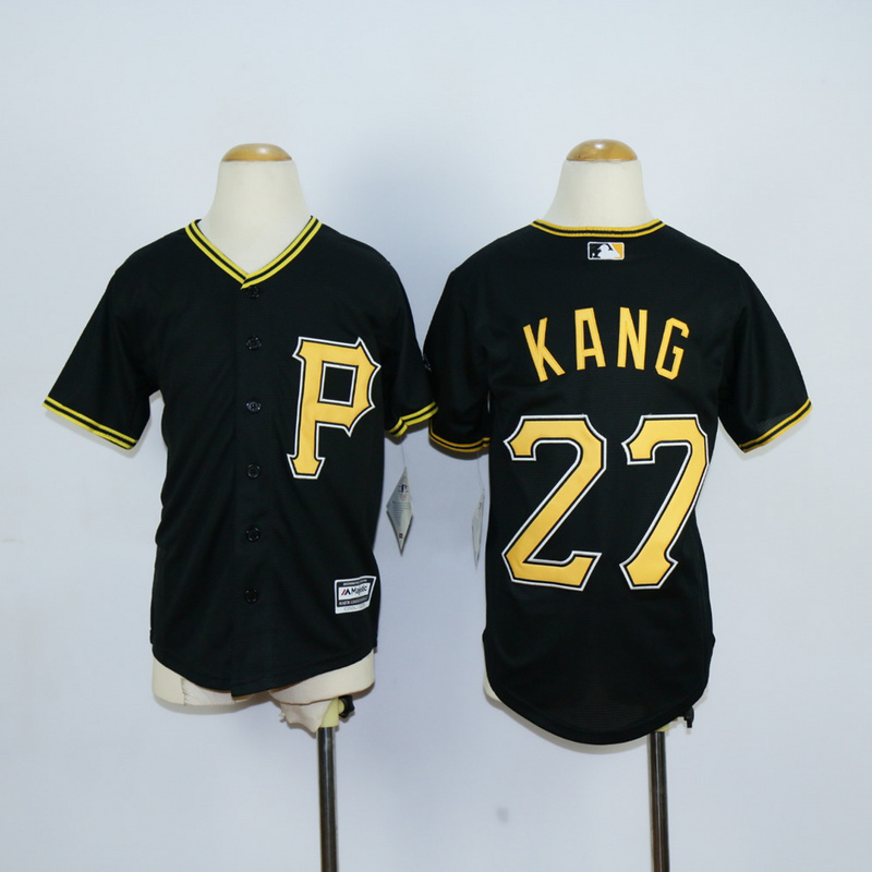 Youth Pittsburgh Pirates 27 Kang Black MLB Jerseys