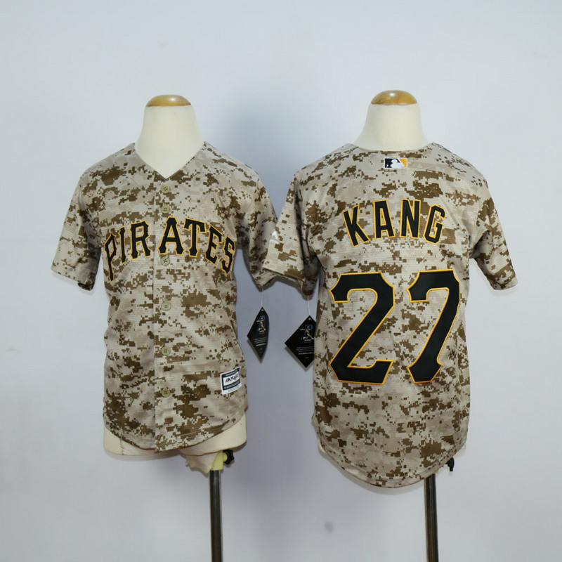 Youth Pittsburgh Pirates 27 Kang Camo MLB Jerseys