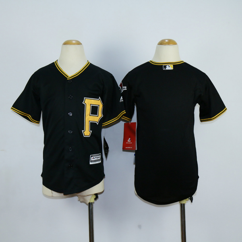 Youth Pittsburgh Pirates Blank Black MLB Jerseys