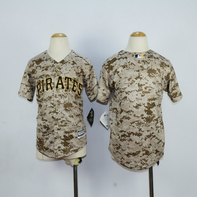 Youth Pittsburgh Pirates Blank Camo MLB Jerseys