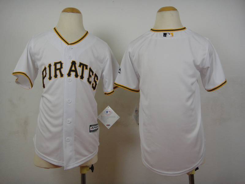 Youth Pittsburgh Pirates Blank White MLB Jerseys