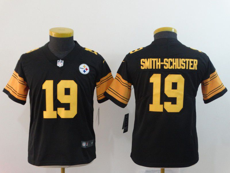 Youth Pittsburgh Steelers 19 Smith-schuster Black Nike Vapor Untouchable Limited Playey NFL Jersey