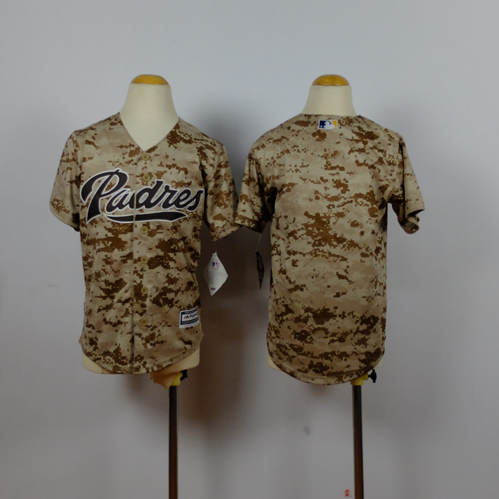 Youth San Diego Padres Blank Camo MLB Jerseys