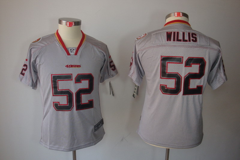 Youth San Francisco 49ers 52 Willis grey NFL Nike Jerseys