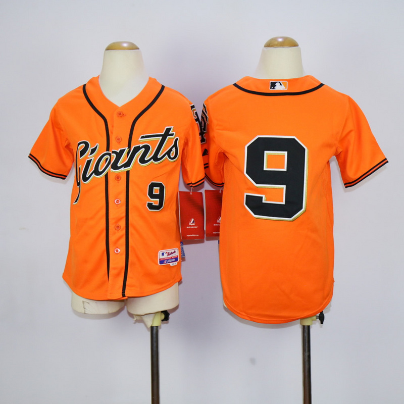 Youth San Francisco Giants 9 Williams Orange MLB Jerseys