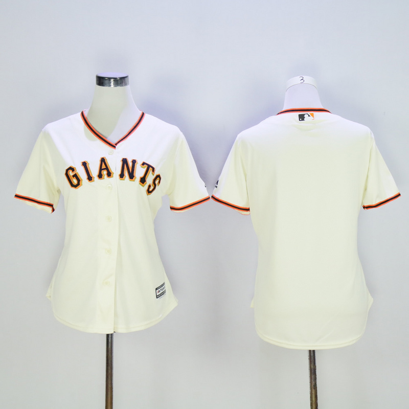 Youth San Francisco Giants Blank Cream MLB Jerseys