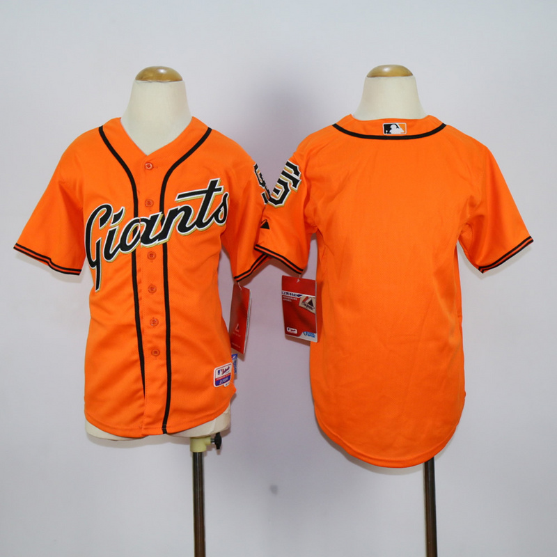 Youth San Francisco Giants Blank Orange MLB Jerseys