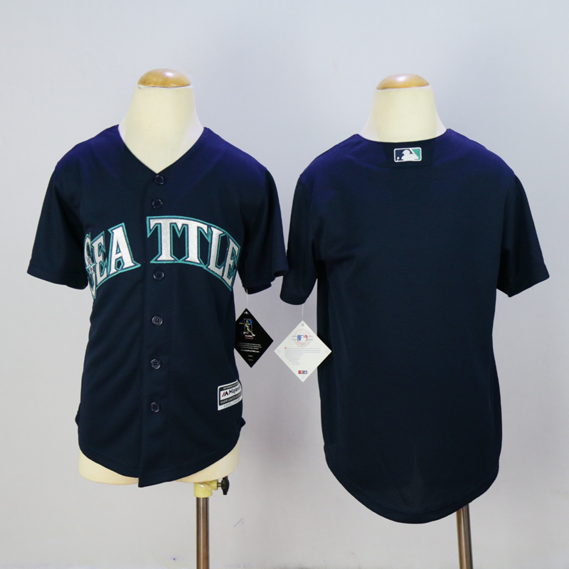 Youth Seattle Mariners Blank Blue MLB Jerseys
