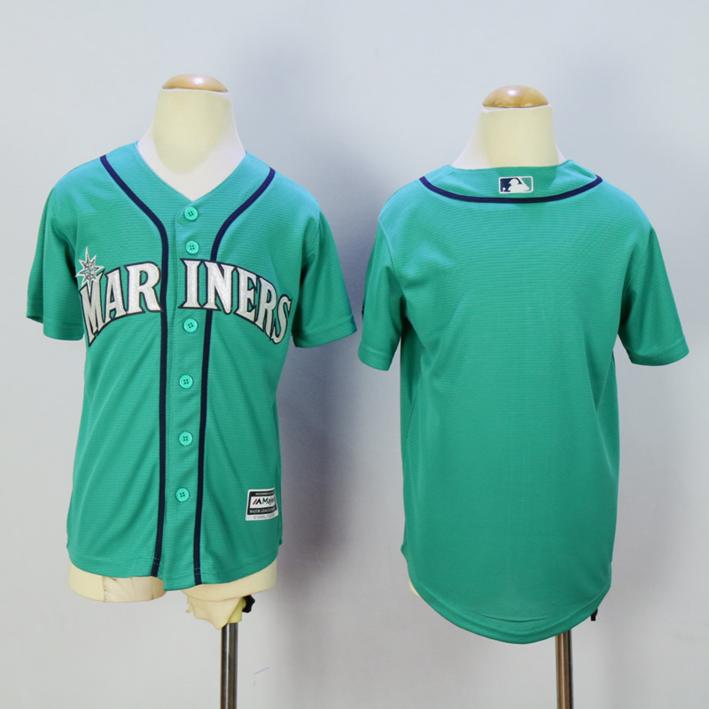 Youth Seattle Mariners Blank Green MLB Jerseys