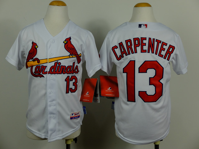 Youth St. Louis Cardinals 13 Carpenter White MLB Jerseys