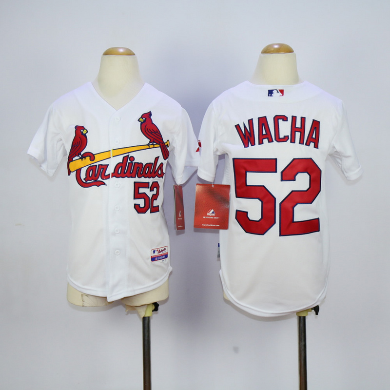 Youth St. Louis Cardinals 52 Wacha White MLB Jerseys